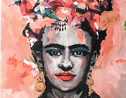 Canvas painting | Frida
