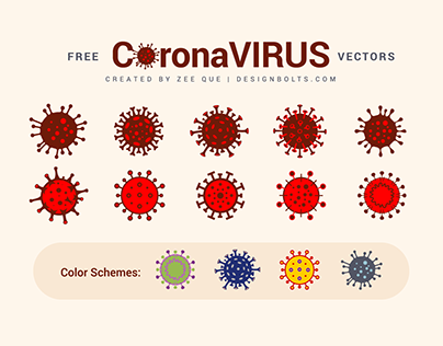 Free Coronavirus Vector Ai, EPS + Color Schemes