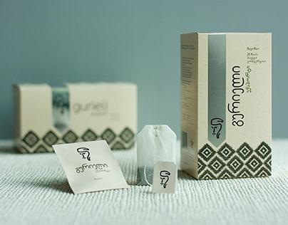 Gurieli tea packaging