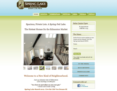 Spring Lake Ranch, Site Content