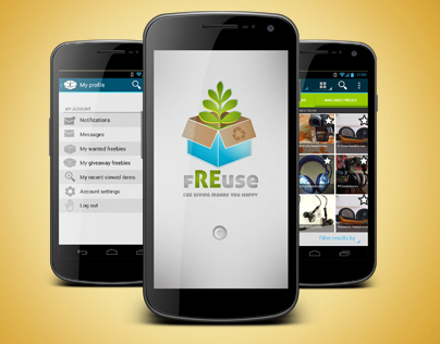 Freuse : an Android app, for free giveaways.