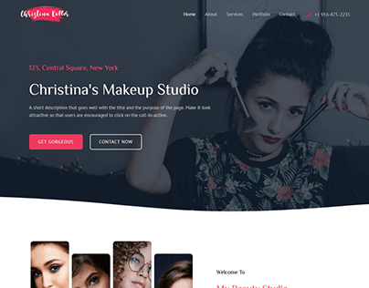 Landing page for a Fashion Website.