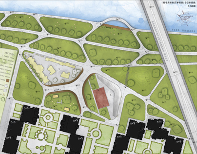 Reconstruction of ''Green Oasis'' park