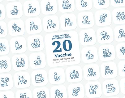 Vaccine | 20 Pixel Perfect Icons