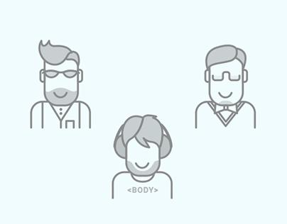 Icon-set for CreativeIT team