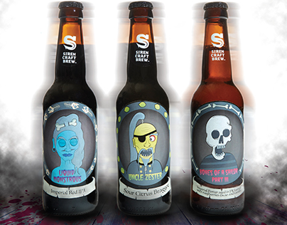 Siren Craft Brew Beer Labels