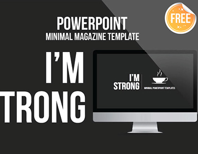 Free Download I am Strong Minimal PowerPoint