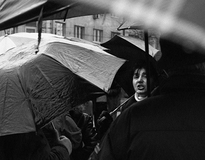 Film Photography: Protest in Sarajevo; Bosnia, 2014