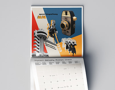 2021 calendar design inspired by soviet culture