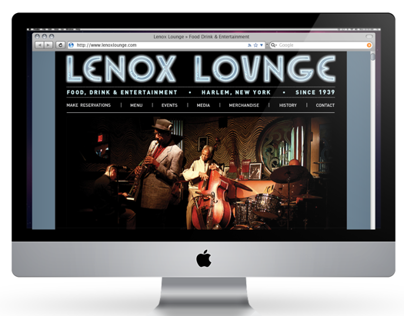 Lenox Lounge Website
