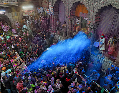 Colours in Holi Festival