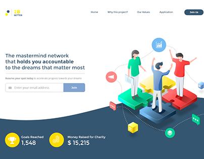 Landing page Illustration design for Community Network