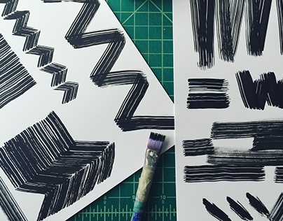 Graphic Paint Strokes