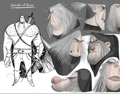 """""""The witcher"""" visual development/character design"""