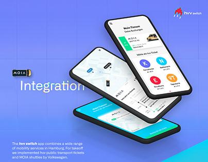 hvv switch App – MOIA Service Integration
