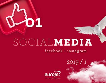 Social media for Eurojet travel company