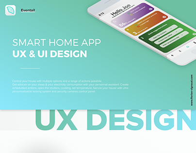 "SMART HOME APP - UX/UI - ""Eventail"""
