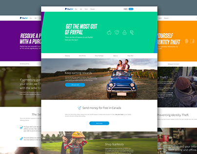 Paypal Landing Pages