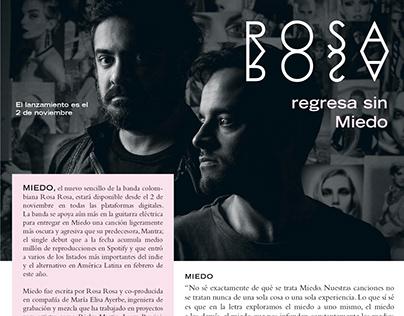 Rosa Rosa regresa sin miedo