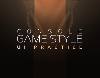 Console game style UI Practice