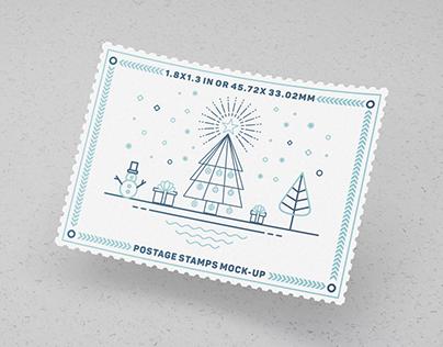 Postage Stamps Mock-Ups Vol.1
