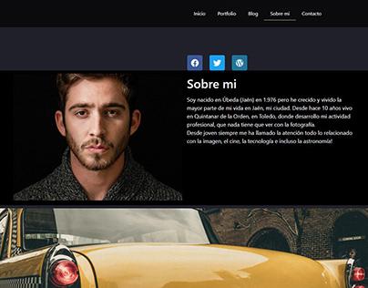 Web design for a photographer
