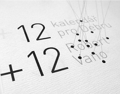 12 plus 12 for Debra Organisation (visual identity)