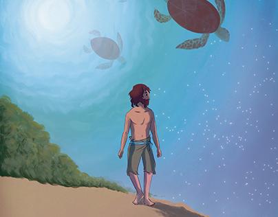 Afiche - La Tortuga Roja