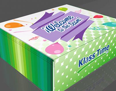Diseño de caja para kit de bienvenida