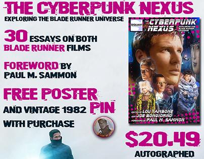 Marketing materials for The Cyberpunk Nexus book.