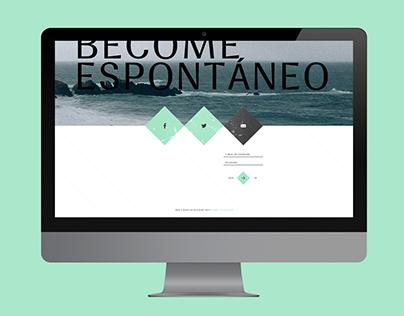 Espontáneo Magazine website