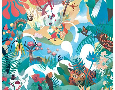 """l'Eden des Thés"" design, illustrations"