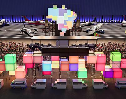 Azul_Hangar Inauguration