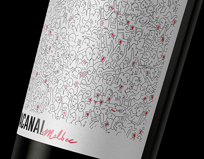 Bacanal Wines - Wine label