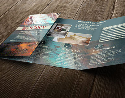 Countertop Epoxy Brochure and Package Design