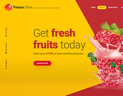 Fresco Store - Hero Header Template