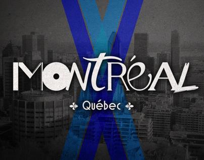Montréal letterings