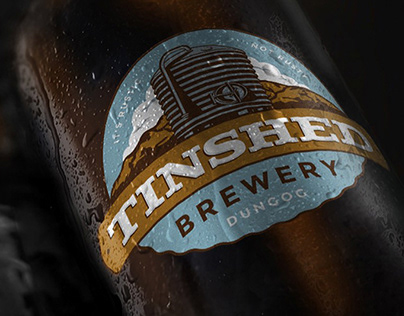 Tinshed Brewery Brand Identity + Illustration.