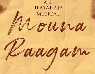 Mouna Raagam Poster