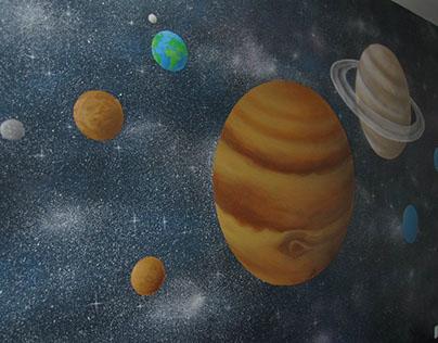 """Solar system"" mural"