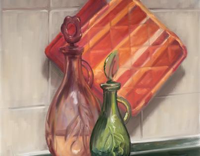 Digital painting on iPad Pro