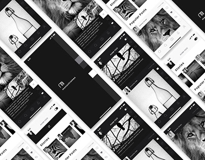 Photo sharing APP [monochromes] Prototype Design