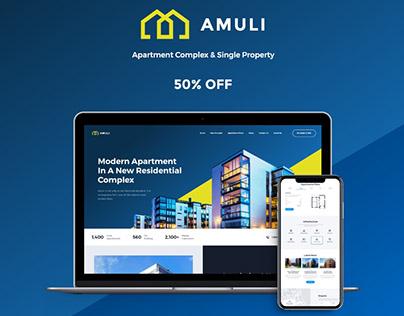 Amuli | Single & Multiple Property Real Estate WP Theme