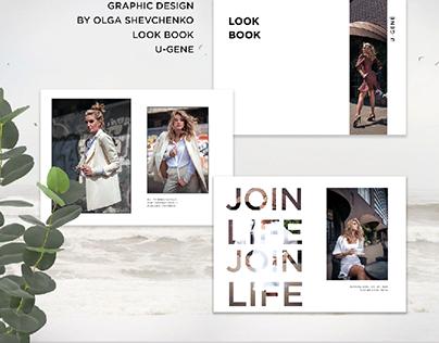 graphic design.  Look book for U-gene