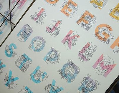 Letters - Silkscreen prints