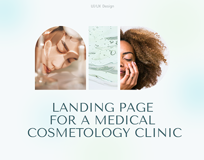 Landing page for a cosmetology clinic