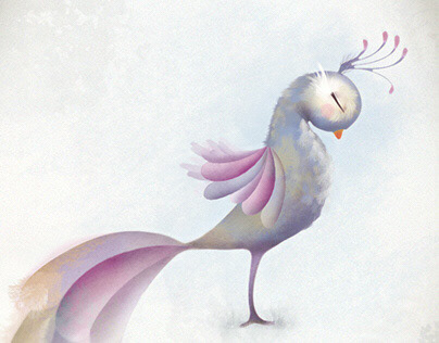ILLUSTRATION: Personal Work - The Peaceful Peacock
