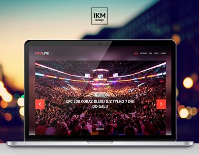 MMA LIVE 24 - Internet Service Website