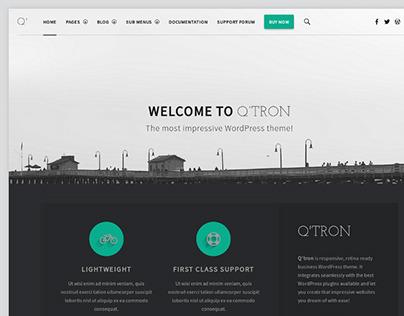 Q'tron - Business Portfolio WP Theme