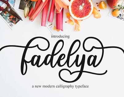 fadelya script beautiful font